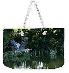 Blue Heron Take-off Weekender Tote Bag