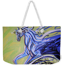 Blue Horse Weekender Tote Bag by Genevieve Esson