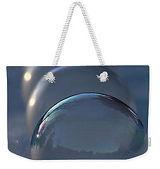 Blue Hour Frozen Bubbles Weekender Tote Bag