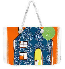 Blue House Get Well Card Weekender Tote Bag