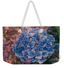 Blue Hydrangea Weekender Tote Bag by Heather Kirk