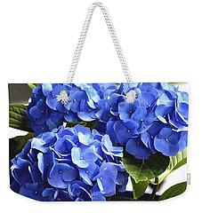 Blue Hydrangea Weekender Tote Bag by Lehua Pekelo-Stearns