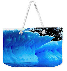 Weekender Tote Bag featuring the photograph Blue Iceberg by Amanda Stadther