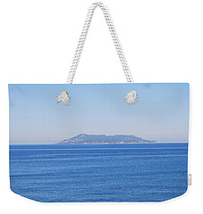 Weekender Tote Bag featuring the photograph Blue Ionian Sea by George Katechis