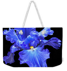 Blue Iris Weekender Tote Bag by Robert Bales
