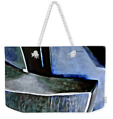 Weekender Tote Bag featuring the painting Blue Iron by Joan Reese