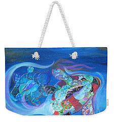 Blue Koi Weekender Tote Bag