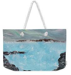 Blue Lagoon Iceland Weekender Tote Bag by Judith Rhue