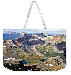 Blue Lakes Beauty Weekender Tote Bag by Jeremy Rhoades