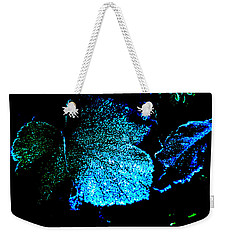 Blue Leaf Weekender Tote Bag by Randi Grace Nilsberg