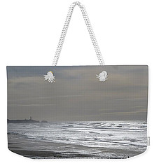 Weekender Tote Bag featuring the photograph Blue Lighthouse View by Susan Garren