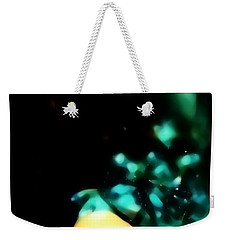 Weekender Tote Bag featuring the photograph Blue Lights by Jessica Shelton