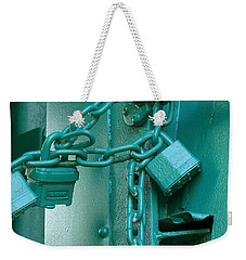 Weekender Tote Bag featuring the photograph Blue Locks by Rodney Lee Williams