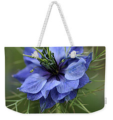 Weekender Tote Bag featuring the photograph Blue Love by Joy Watson