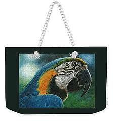 Blue Macaw Weekender Tote Bag by Sandra LaFaut