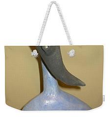 Blue Man - Thinking Weekender Tote Bag by Mario Perron