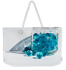Blue Marbles Weekender Tote Bag by Mary Hone