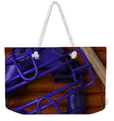 Blue Mask With Bat And Ball Weekender Tote Bag
