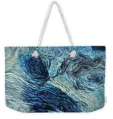 Blue Maze 1 Weekender Tote Bag by Joyce Dickens