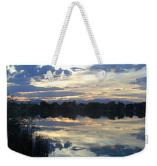Blue Mirror Weekender Tote Bag