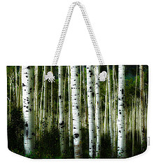 Blue Mood Aspens I Weekender Tote Bag by Lanita Williams