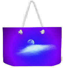 Weekender Tote Bag featuring the photograph Blue Moon Lavender Sky by Susanne Still