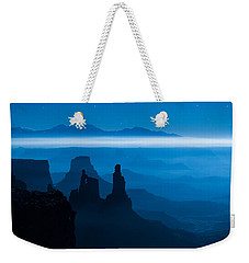 Weekender Tote Bag featuring the photograph Blue Moon Mesa by Dustin  LeFevre