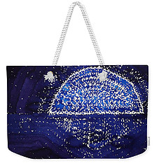Blue Moonrise Original Painting Weekender Tote Bag