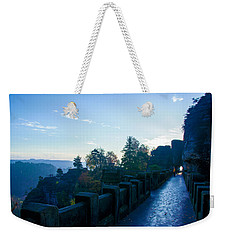 Blue Morning On The Bastei Weekender Tote Bag