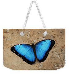Blue Morpho #2 Weekender Tote Bag by Judy Whitton