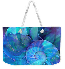 Blue Nautilus Shell By Sharon Cummings Weekender Tote Bag