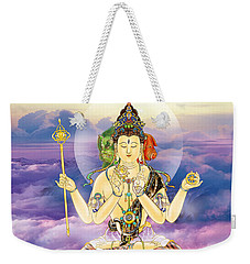 Weekender Tote Bag featuring the photograph Blue-neck Kuan Yin by Lanjee Chee