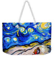 Blue Night Weekender Tote Bag by Ramona Matei