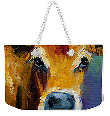 Blue Nose Cow Weekender Tote Bag