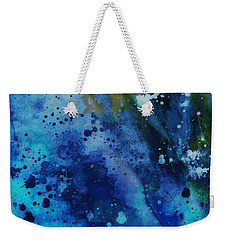 Blue On Blue - Abstract Art Weekender Tote Bag by Ann Powell