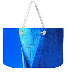Weekender Tote Bag featuring the photograph Blue On Blue Cropped Version by Chris Anderson