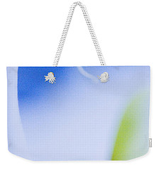 Weekender Tote Bag featuring the photograph Blue Orchid Abstract by Bradley R Youngberg