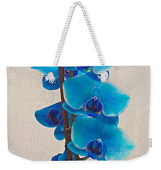 Blue Orchid Weekender Tote Bag by Scott Carruthers