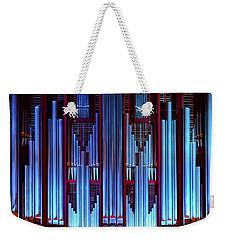 Blue Organ Pipes Weekender Tote Bag