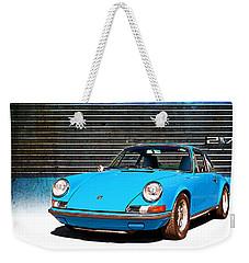 Blue Porsche 911 Weekender Tote Bag