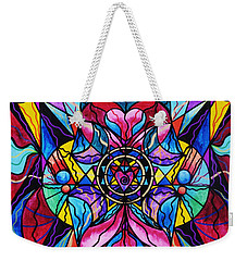 Blue Ray Healing Weekender Tote Bag
