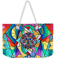 Blue Ray Transcendence Grid Weekender Tote Bag