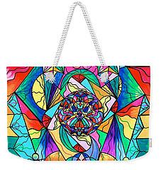 Blue Ray Transcendence Grid Weekender Tote Bag