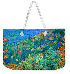Blue Ridge Autumn Weekender Tote Bag