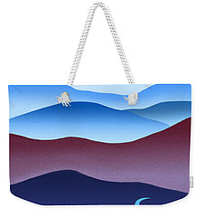 Blue Ridge Blue Road Weekender Tote Bag by Catherine Twomey