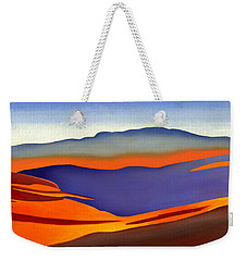 Blue Ridge Mountains East Fall Art Abstract Weekender Tote Bag by Catherine Twomey