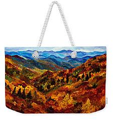 Blue Ridge Mountains In Fall II Weekender Tote Bag by Julie Brugh Riffey