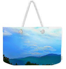 Weekender Tote Bag featuring the photograph Blue Ridge Mountains by Judy Palkimas