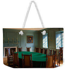 Weekender Tote Bag featuring the photograph Blue Room 2 Wren Building by Jerry Gammon