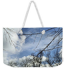 Weekender Tote Bag featuring the photograph Blue Skies Of Winter by Robyn King